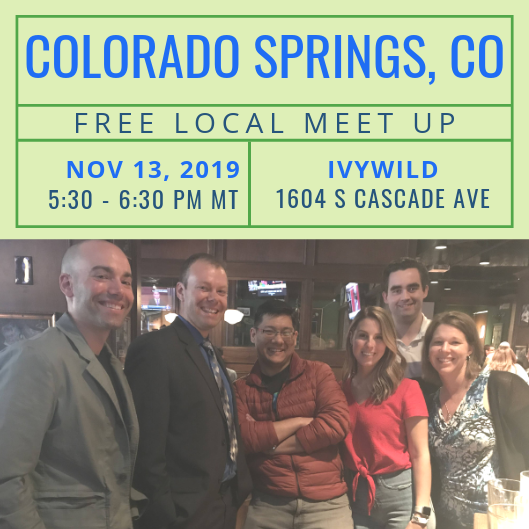 FREE Local Meet-Up: Colorado Springs, CO