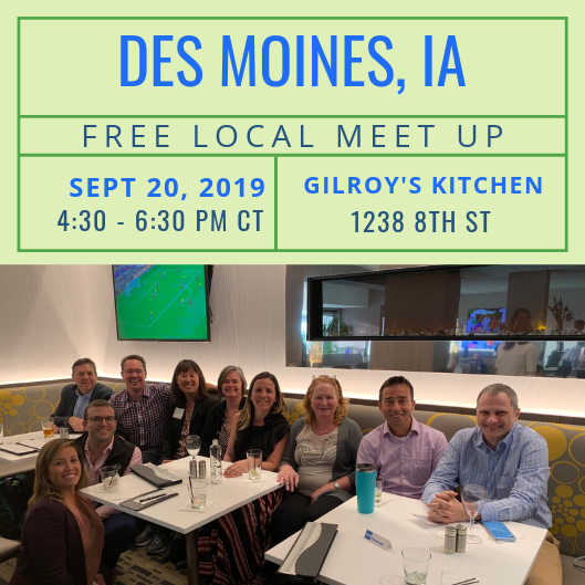 FREE Local Meet-Up: Des Moines, IA