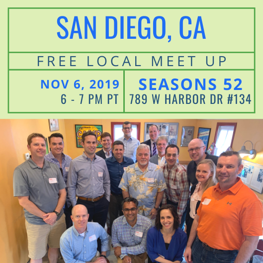 FREE Local Meet-Up: San Diego, CA