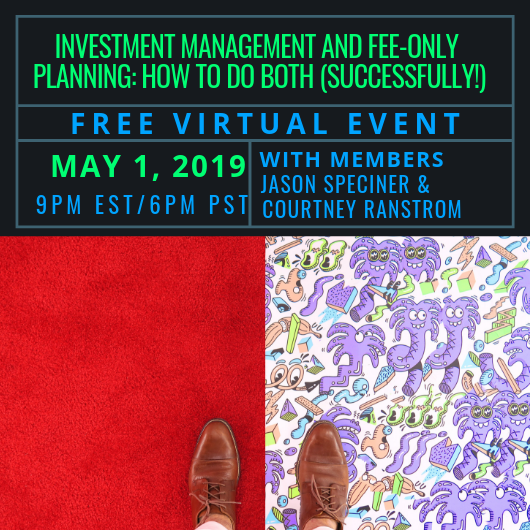 Free Webinar: Investment Management and Fee-Only Planning