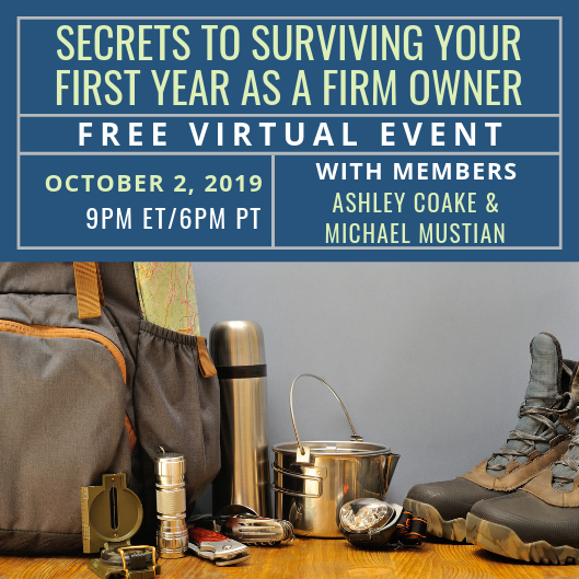 Free Event: Secrets to Surviving Your First Year as a Firm Owner