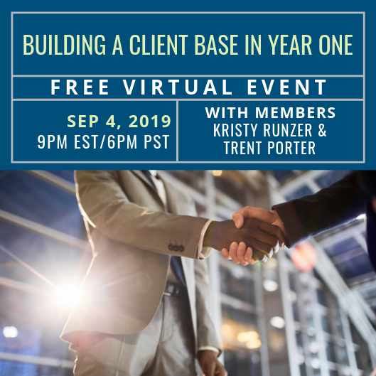Free Event: Building a Client Base in Year One