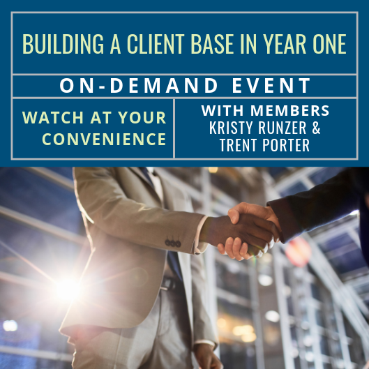 On-Demand Event: Building a Client Base in Year One