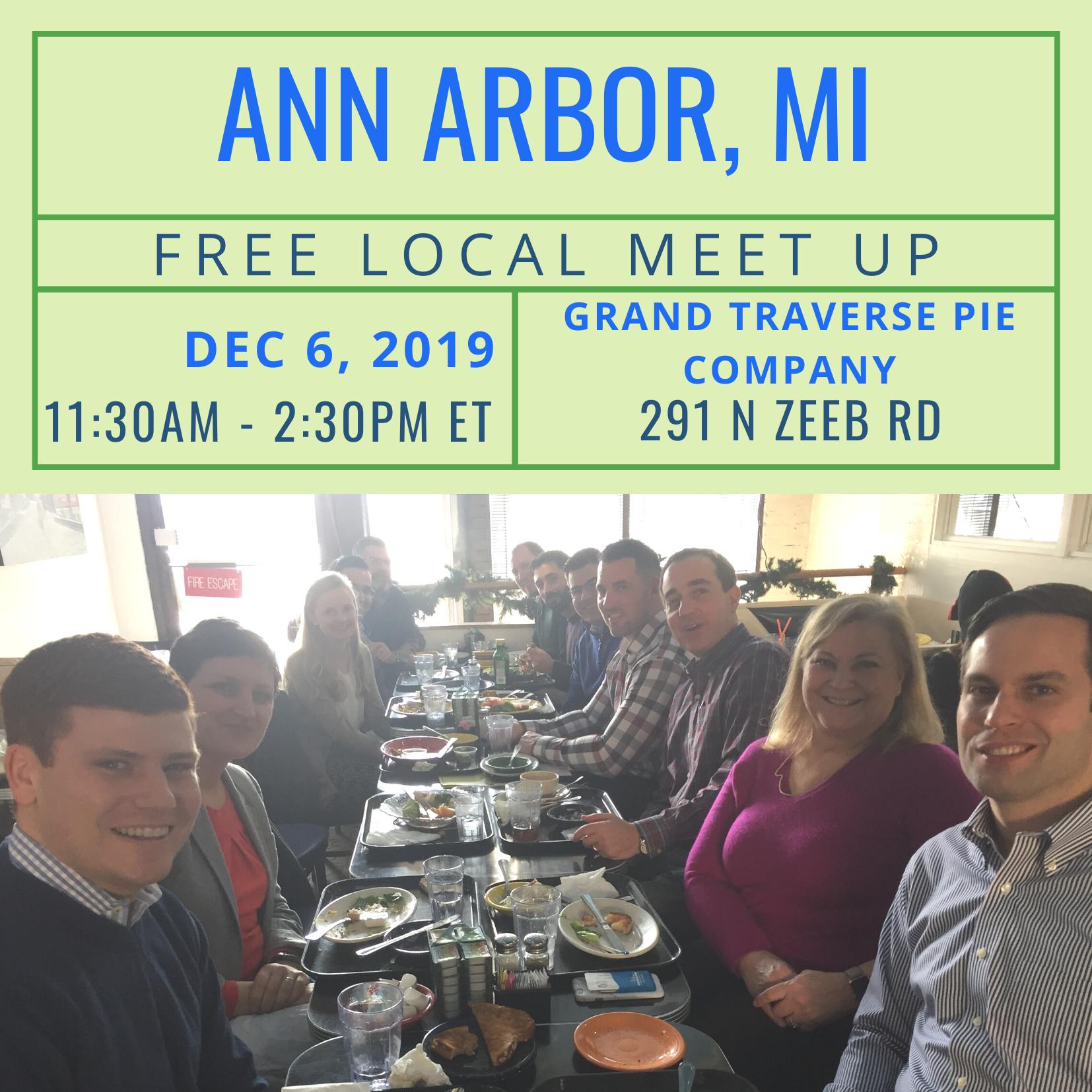 FREE Local Meet-Up: Ann Arbor, MI on December 6, 2019