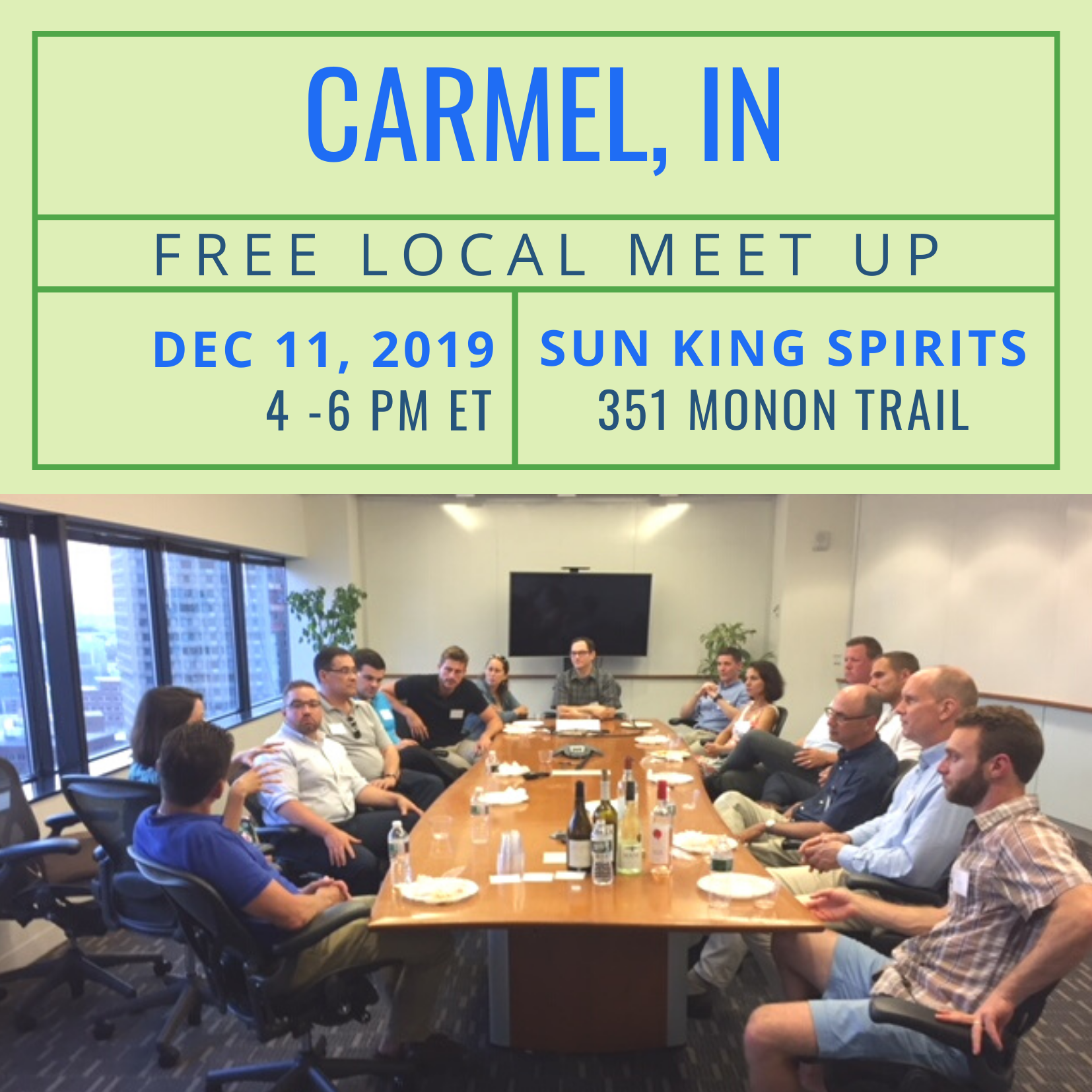 FREE Local Meet Up: Carmel, IN on December 11