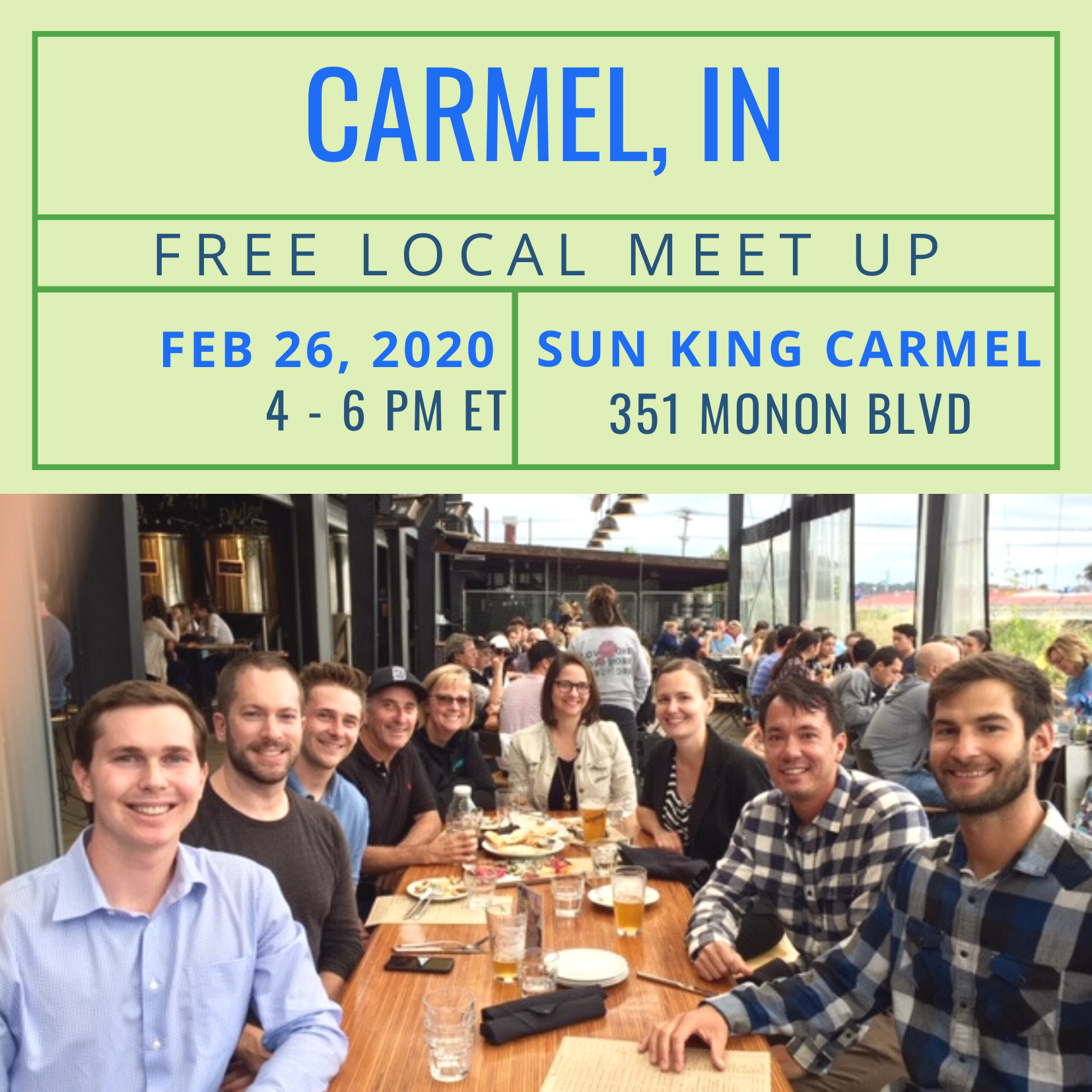 Free Local Meet-Up in Carmel, IN on Tuesday, February 25