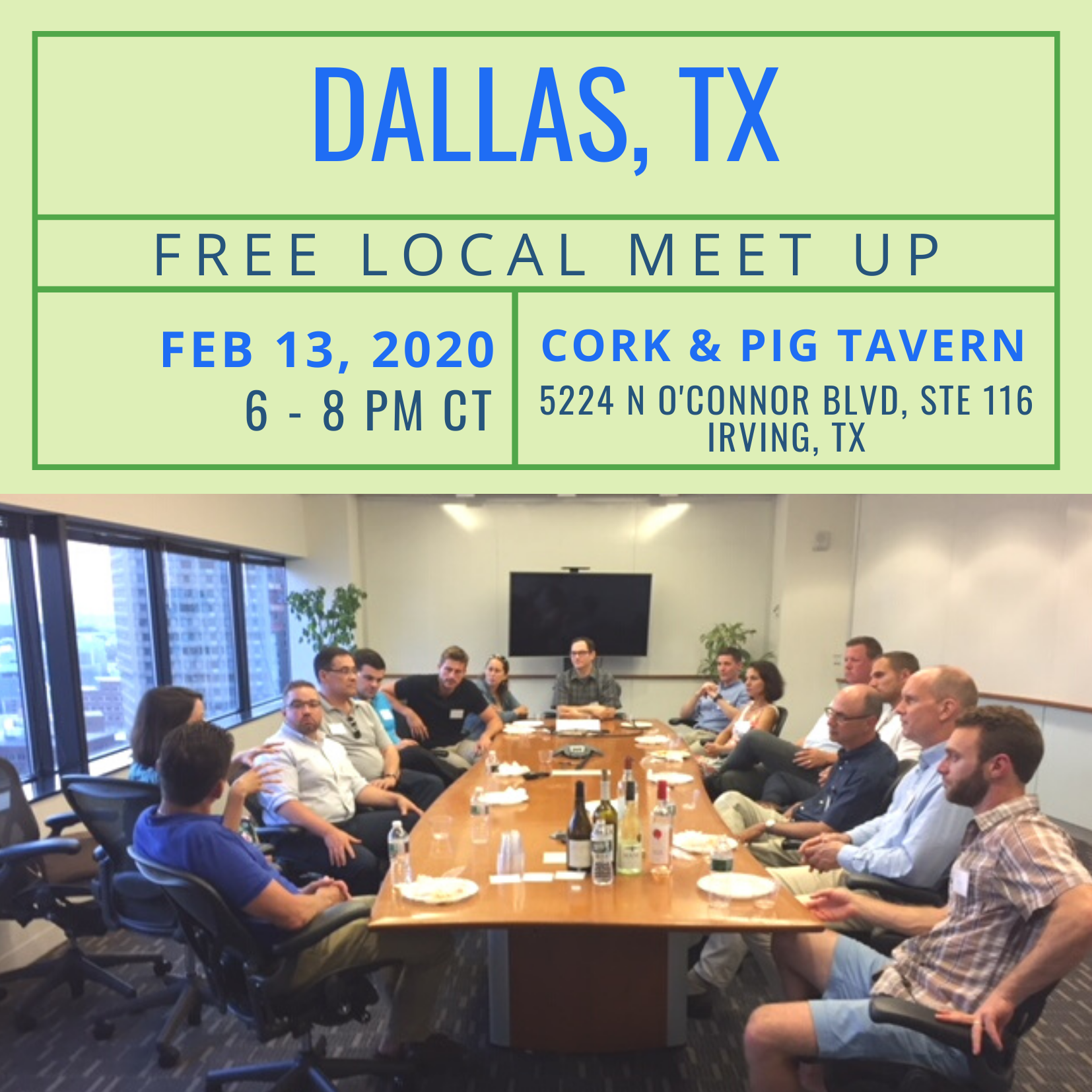 Free Local Meet-Up in Dallas, TX on Thursday, February 13