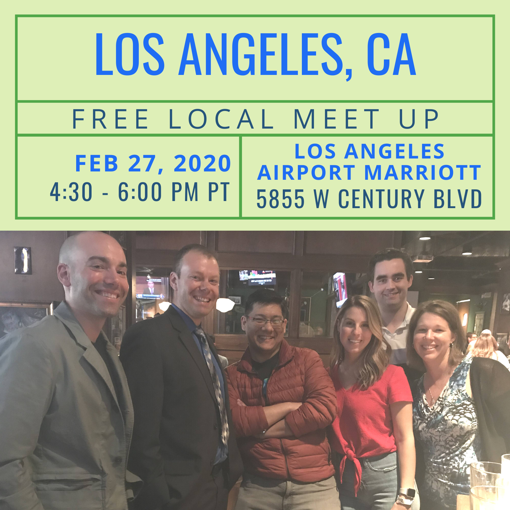 Free Local Meet-Up in Los Angeles on Thursday, February 27