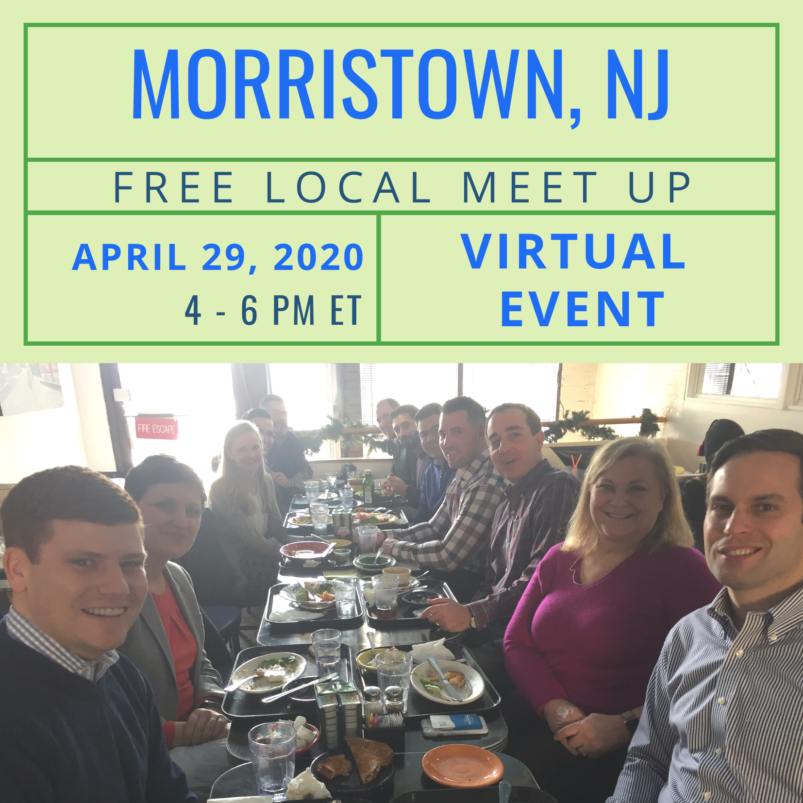 Free Local Meet Up for Morristown, NJ on Wednesday, April 29