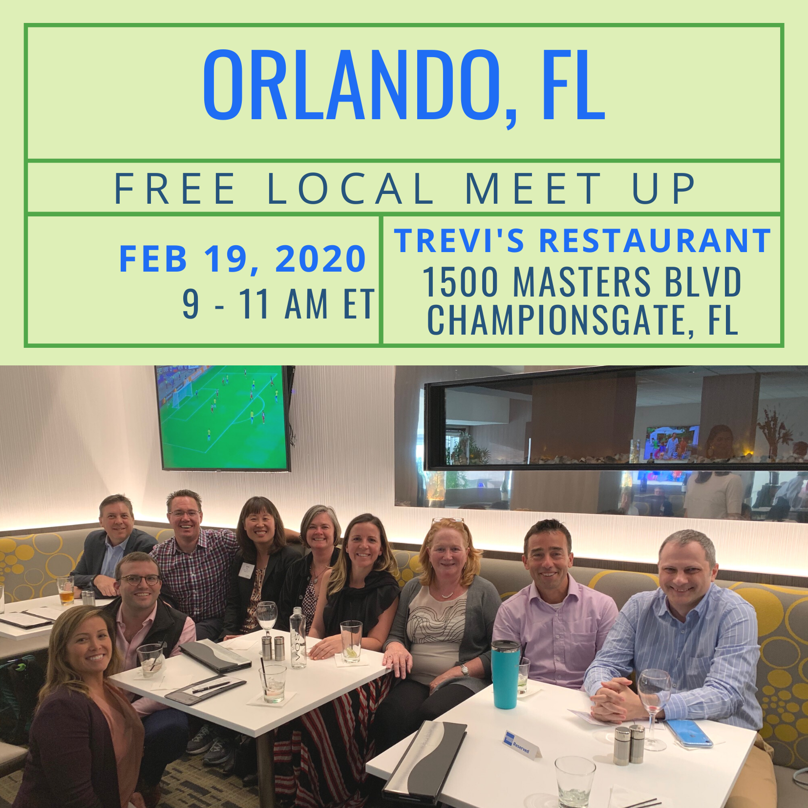 Free Local Meet-Up in Orlando, FL on February 19