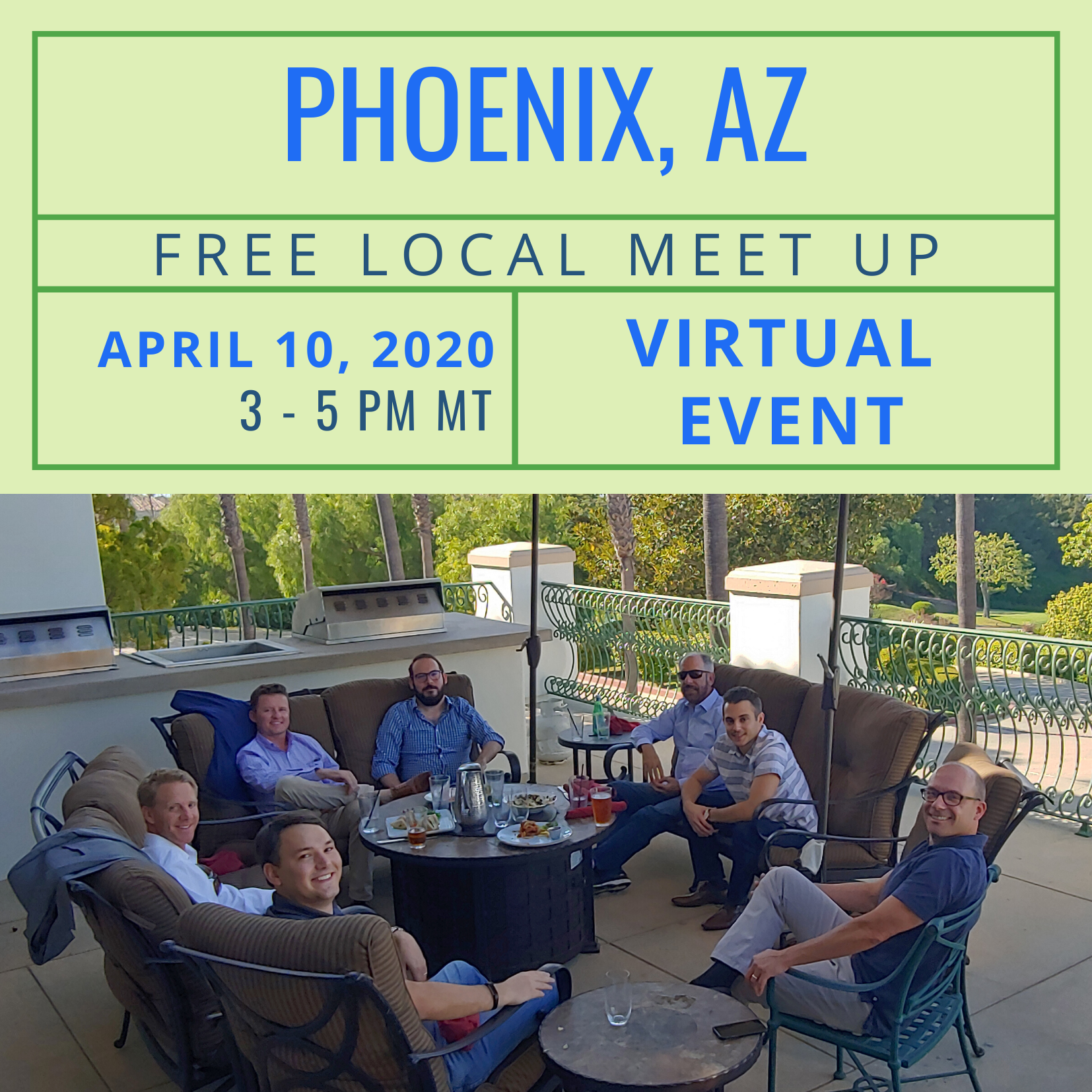 Free Local Meet Up in Phoenix on Friday, April 10