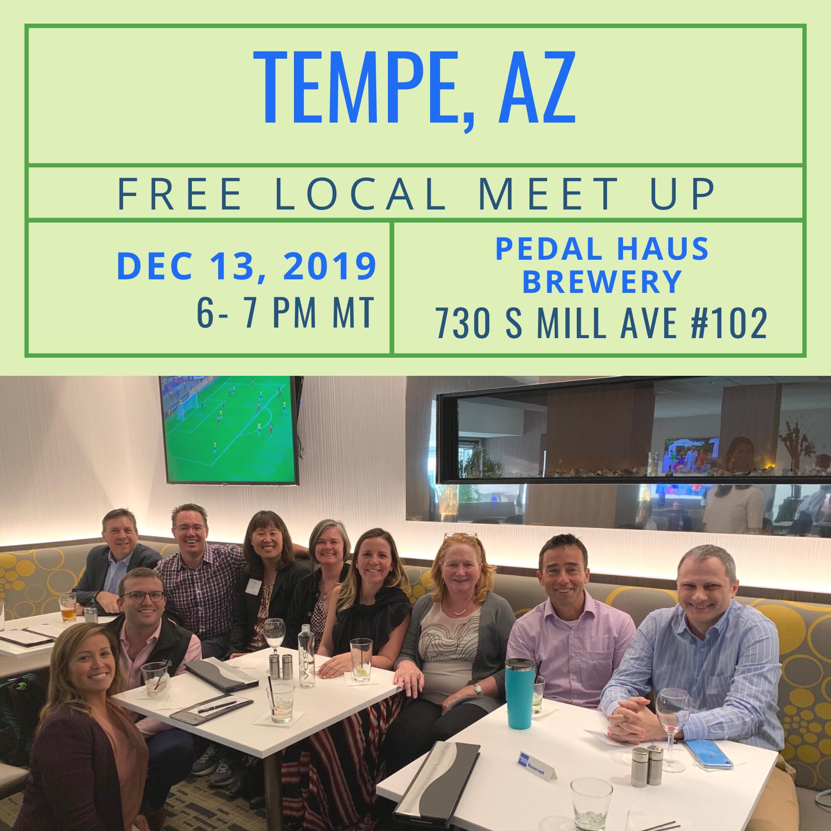 FREE Local Meet Up: Tempe, AZ on December 13