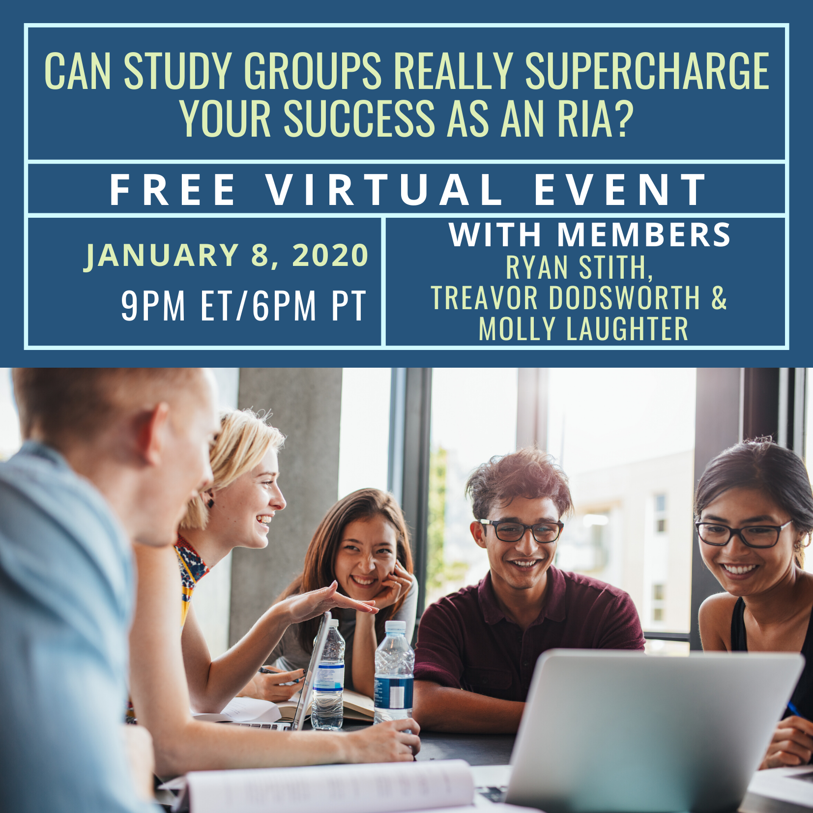 FREE Virtual Event: Can Study Groups Really Supercharge Your Success as an RIA?