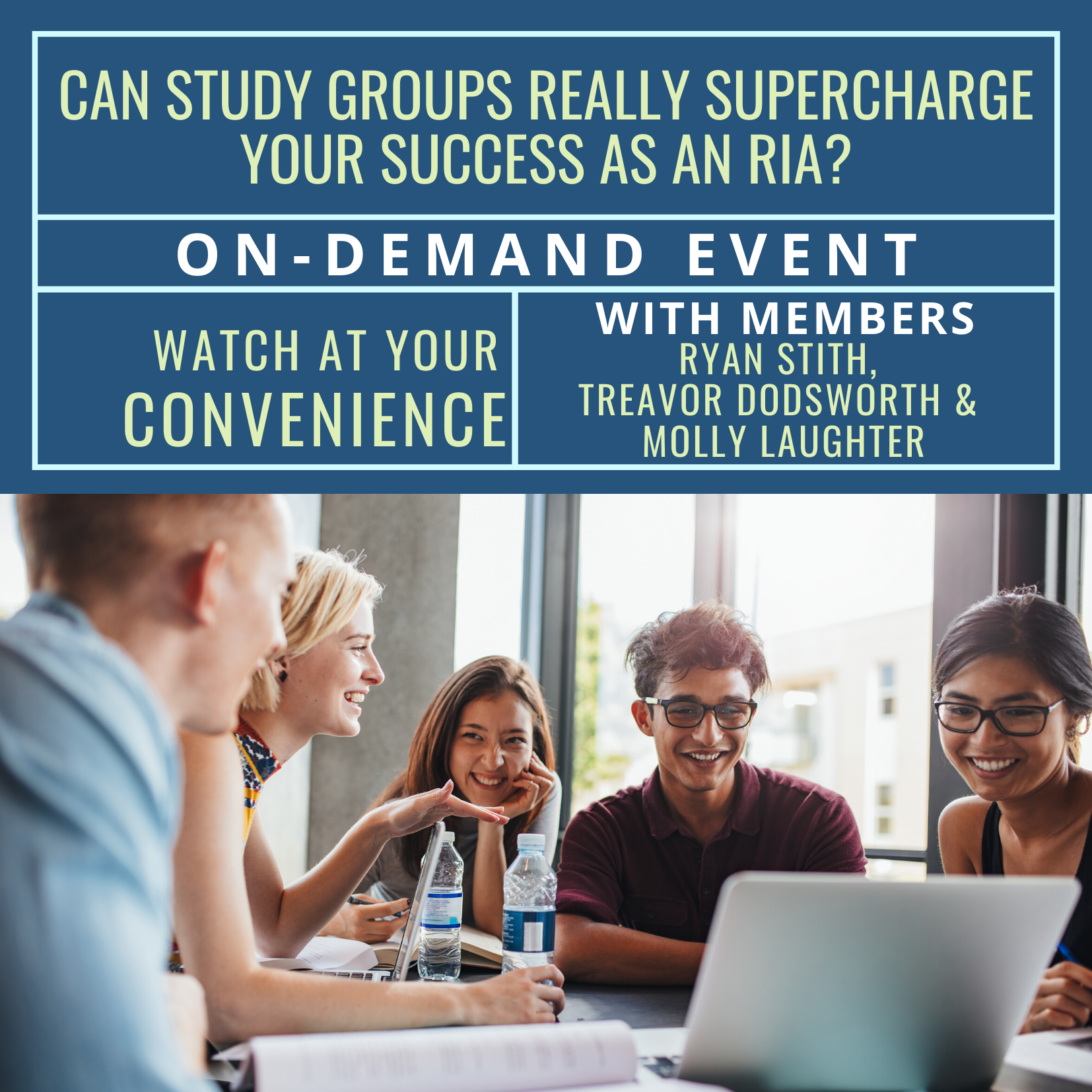 On-Demand Event: Can Study Groups Really Supercharge Your Success as an RIA?