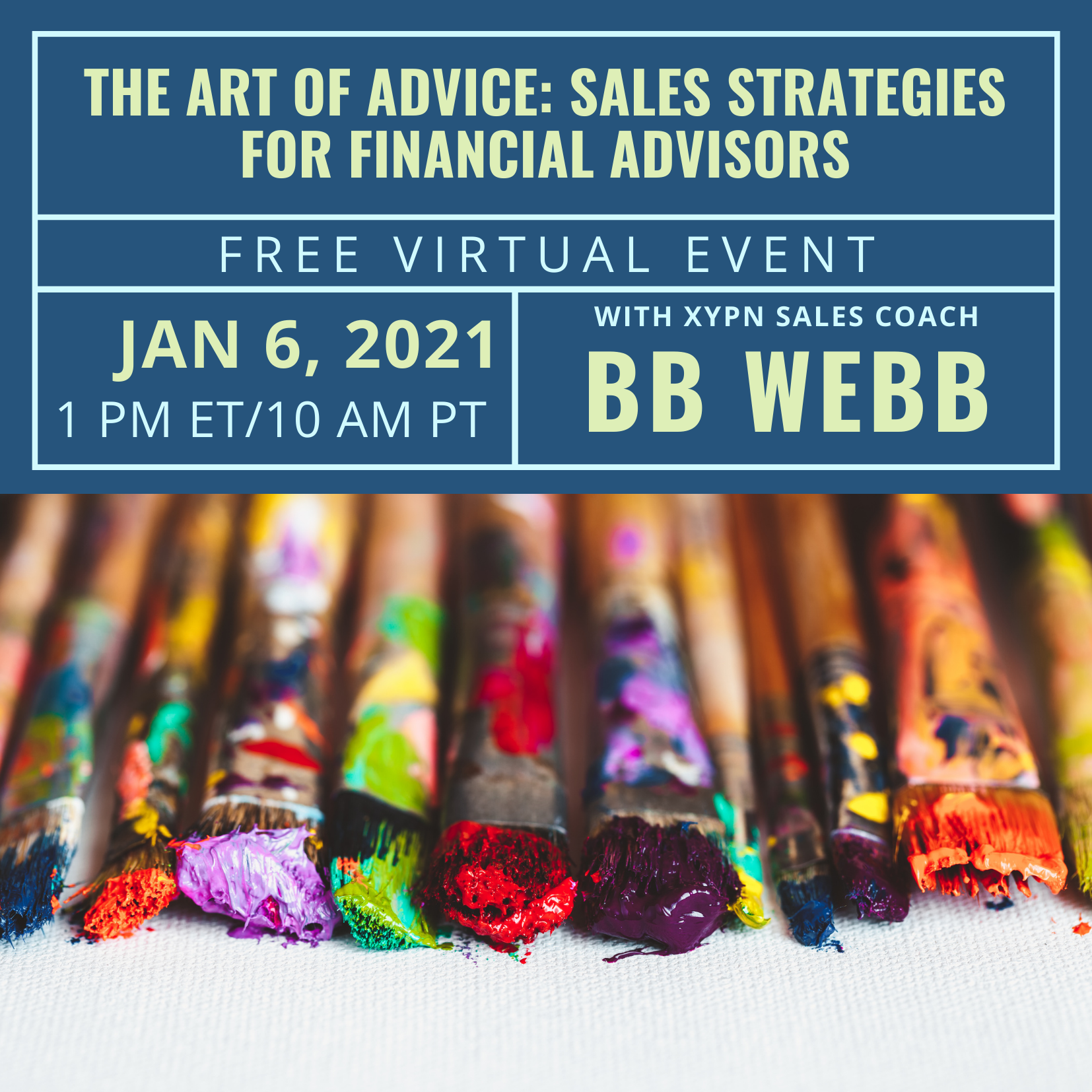 Free Virtual Event: The Art of Advice Sales Strategies for Financial Advisors