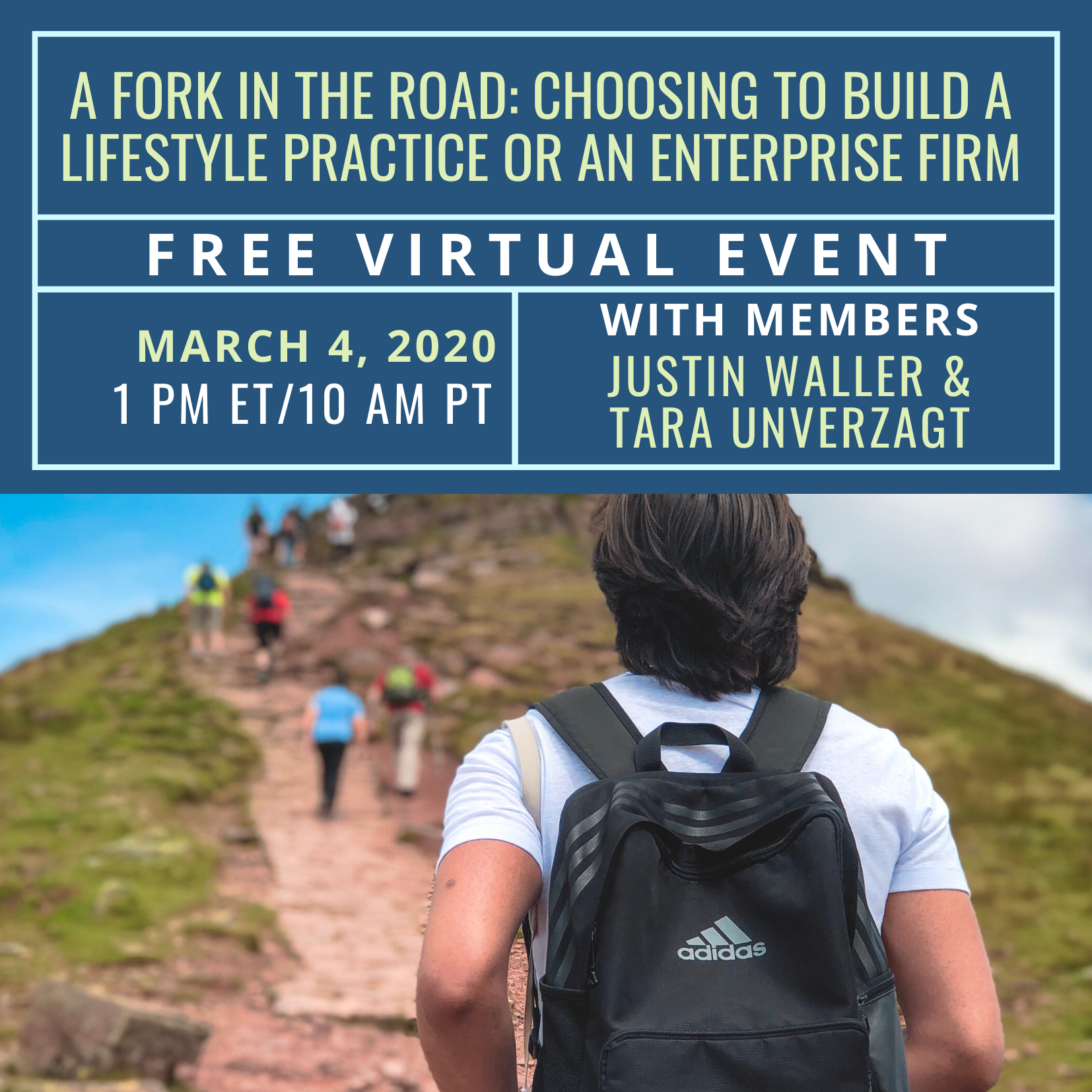 FREE Virtual Event: A Fork in the Road: Choosing to Build a Lifestyle Practice or an Enterprise Firm