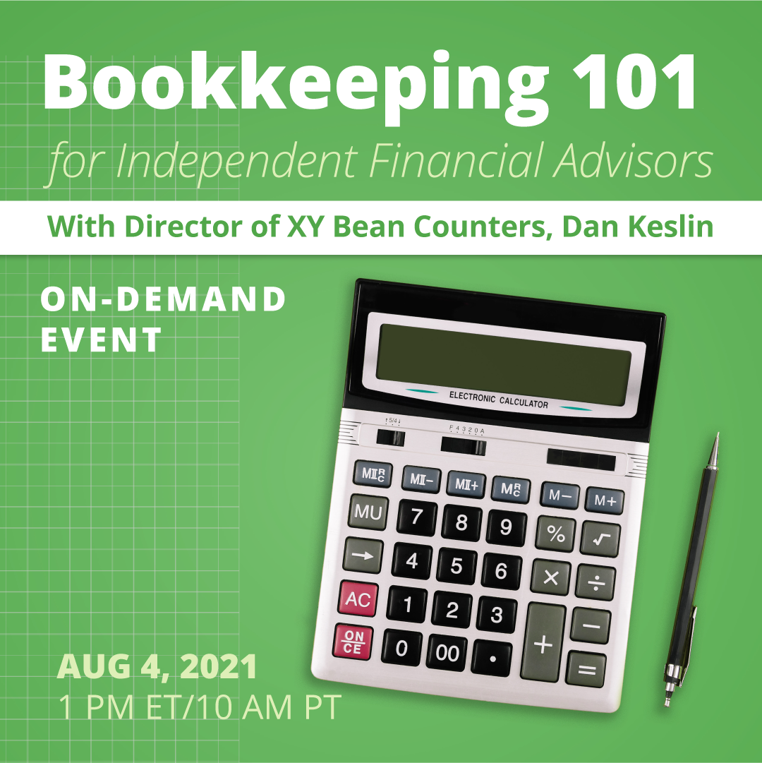 Bookkeeping 101 for Independent Financial Advisors